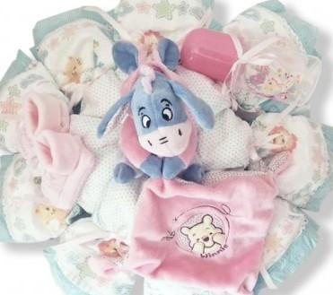 cadeau original pour bébé : gâteau de couches winnie l'ourson